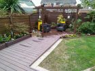 Bespoke composite decking complete with pergola<br /><br />www.heysgroundcare.co.uk