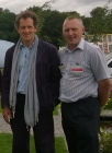BBC TV Celebrity gardener Monty Don with Richard Heys at the 2015 RHS Tatton Flower Show