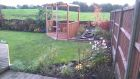 Bespoke pergola and seating area with adjacent child friendly water feature<br /><br />www.heysgroundcare.co.uk