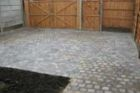 Completed block paving driveway with gated access for vehicles and pedestrians<br />www.heysgroundcare.co.uk
