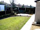Circular patio and curved lawn www.heysgroundcare.co.uk