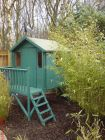 An adventure play house fit for a king set within &#039;jungle&#039; bamboo planting<br /><br />www.heysgroundcare.co.uk